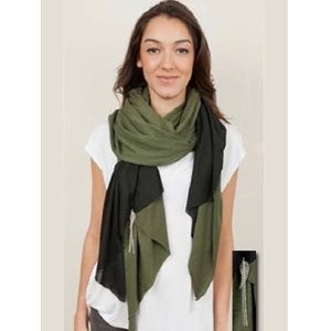 Donni Charm Together Touch Scarf Wrap Onyx Olive